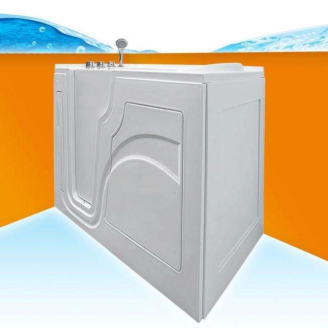Senioren Sitzbadewanne Seniorenbadewanne Wanne Badewanne mit Tür Pool SW702-ALL – Bild 2