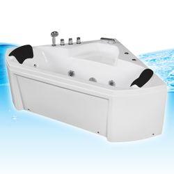 Whirlpool Pool Badewanne Eckwanne Wanne A1402N-ALL 135x135 + Reinigungsfunktion Bild 4