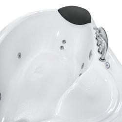 Eckwanne Whirlpool Raumsparwunder Pool Badewanne A617-B-ALL 160x100 Bild 10