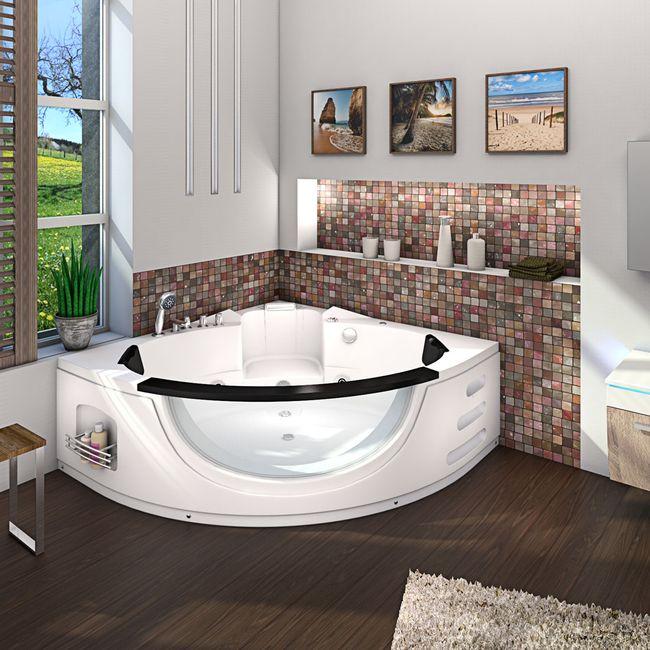 Whirlpool Pool Badewanne Eckwanne Wanne A1506-ALL 152x152cm Reinigungsfunktion – Bild 11