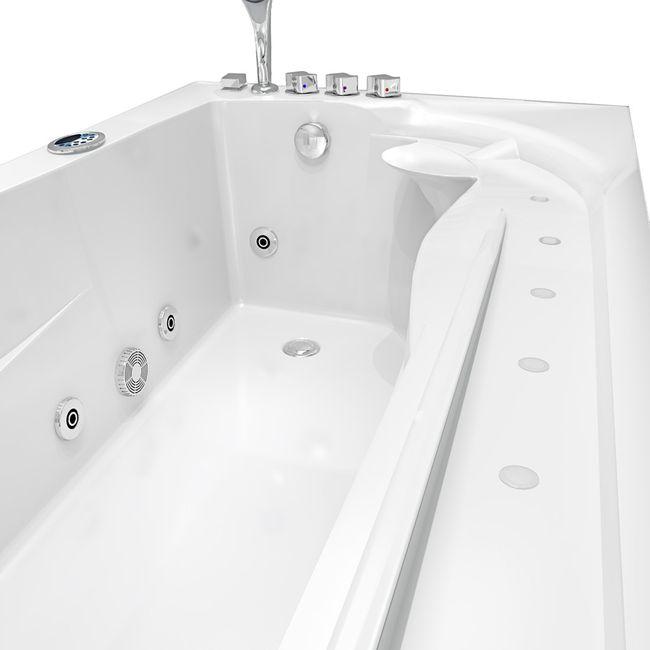 Whirlpool Vollausstattung Pool Badewanne Eckwanne Wanne A611N-ALL 100x180 – Bild 18