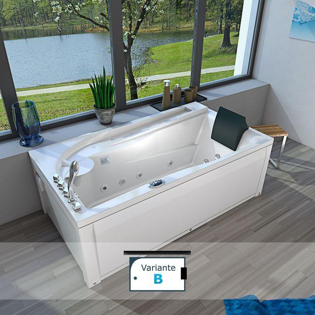 Whirlpool Vollausstattung Pool Badewanne Eckwanne Wanne A611N-ALL 100x180 – Bild 22