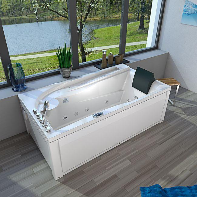 Whirlpool Vollausstattung Pool Badewanne Eckwanne Wanne A611N-ALL 100x180 – Bild 24