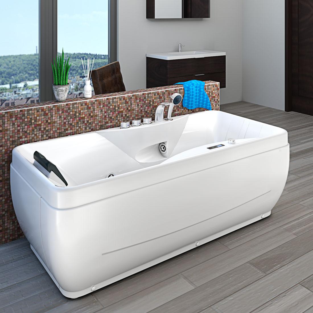 acquavapore whirlpool vollausstattung pool badewanne wanne a1149 pl 170x80cm. Black Bedroom Furniture Sets. Home Design Ideas