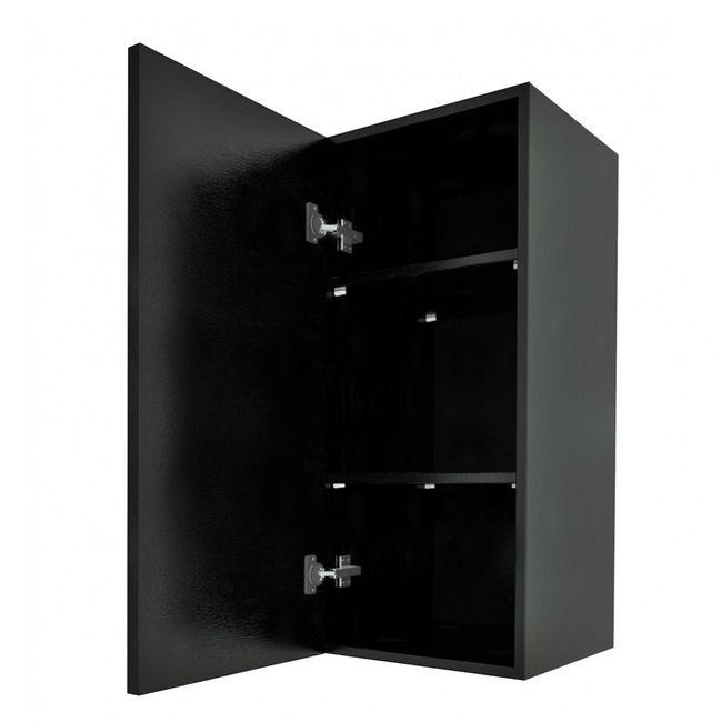 Badschrank, Hängeschrank, Hochschrank 40x87,5x35cm City Esche schwarz – Bild 4