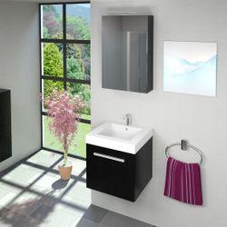 Badschrank, Hängeschrank, Hochschrank 40x87,5x35cm City Esche schwarz Bild 8
