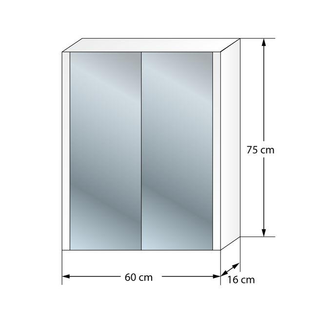 Badmöbel Set Curve 102 V6 MDF Wallnuss, Badezimmermöbel, Waschtisch 60cm – Bild 9