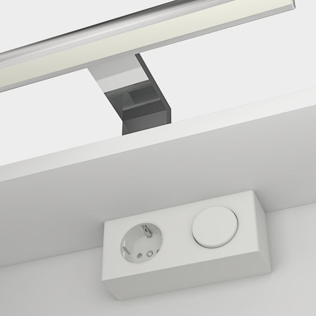 Badmöbel Set Curve 102 V1 MDF weiß, Badezimmermöbel, Waschtisch 80cm – Bild 5