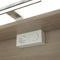 Energiebox mit Steckdose für Badezimmerschränke oder Spiegelschränke