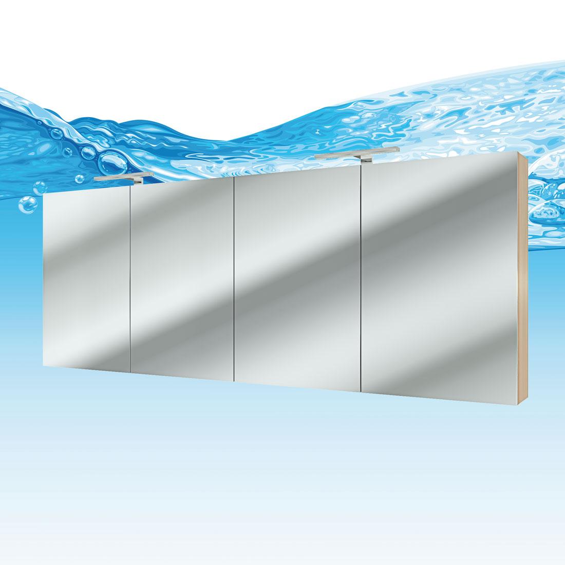 Spiegelschrank, Badspiegel, Badezimmer Spiegel City 200cm Eiche