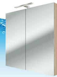 Tür Spiegelschrank 50/100er Serie City / Farbe Eiche