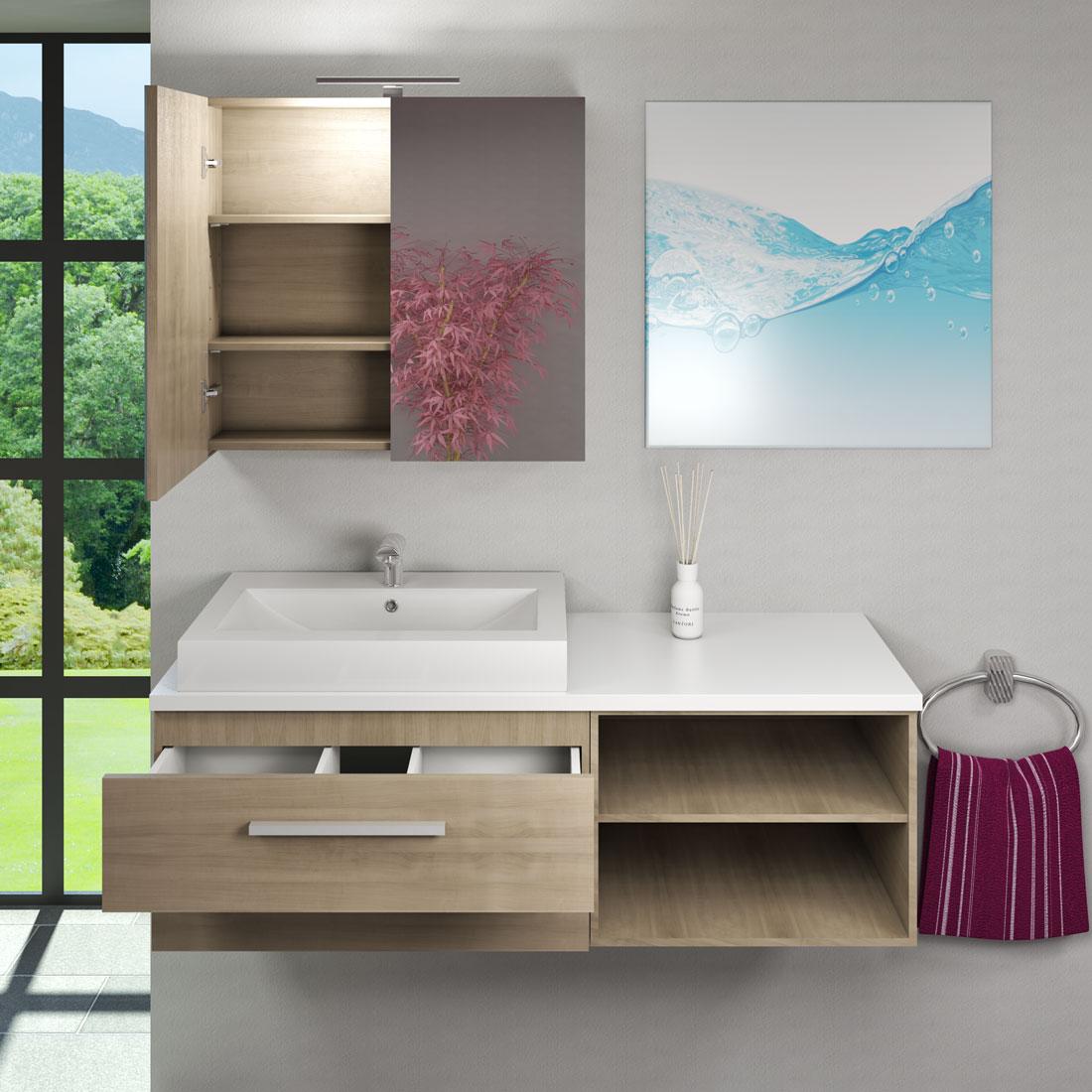 waschtisch mit waschbecken unterschrank city 205 140cm. Black Bedroom Furniture Sets. Home Design Ideas