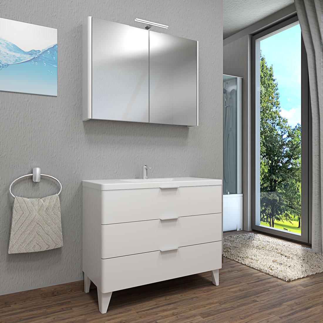 badm bel set curve 106 v1 mdf wei badezimmerm bel waschtisch 100cm. Black Bedroom Furniture Sets. Home Design Ideas