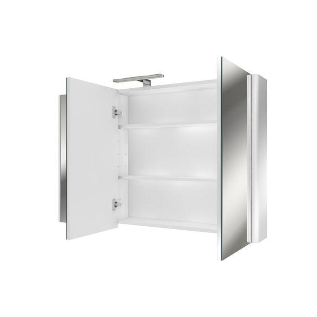Badmöbel Set Curve 213 V1 MDF weiß, Badezimmermöbel, Waschtisch 120cm – Bild 7
