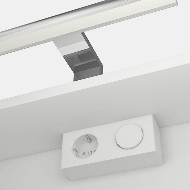 Spiegelschrank, Badspiegel, Spiegel Curve 120cm MDF Hochglanz weiß – Bild 4