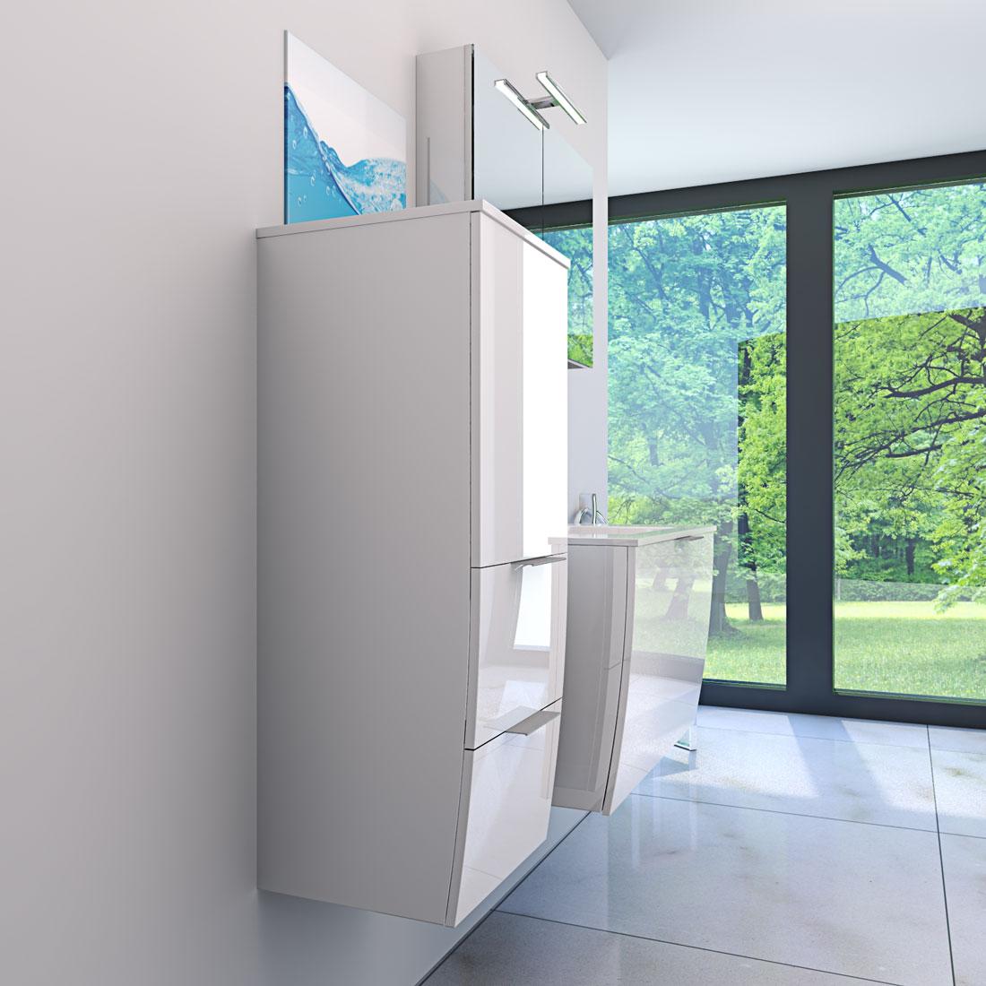 badm bel set gently 1 v2 l hochglanz wei badezimmerm bel waschtisch 80cm. Black Bedroom Furniture Sets. Home Design Ideas