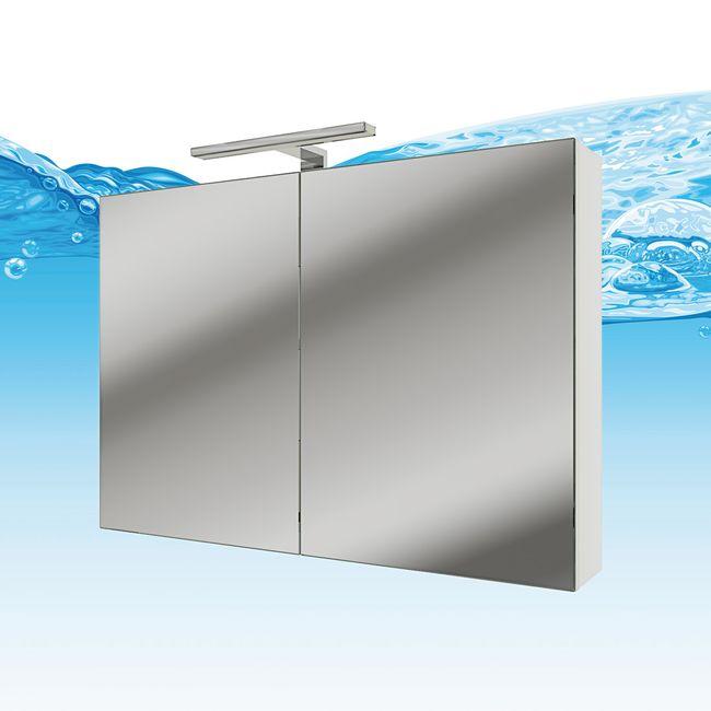 Badmöbel Set Gently 2 V2-L Hochglanz weiß, Badezimmermöbel, Waschtisch 80cm – Bild 6