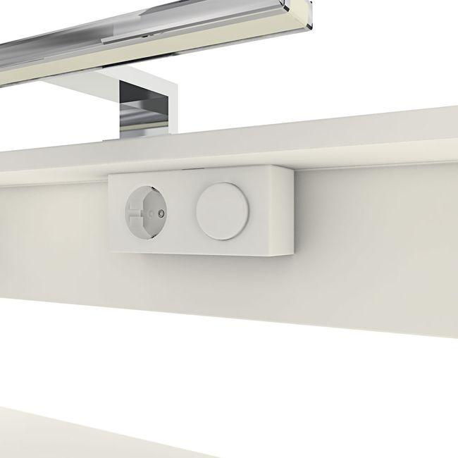 Badmöbel Set Gently 1 V4-L weiß / Eiche hell, Badezimmermöbel, Waschtisch 80cm – Bild 8