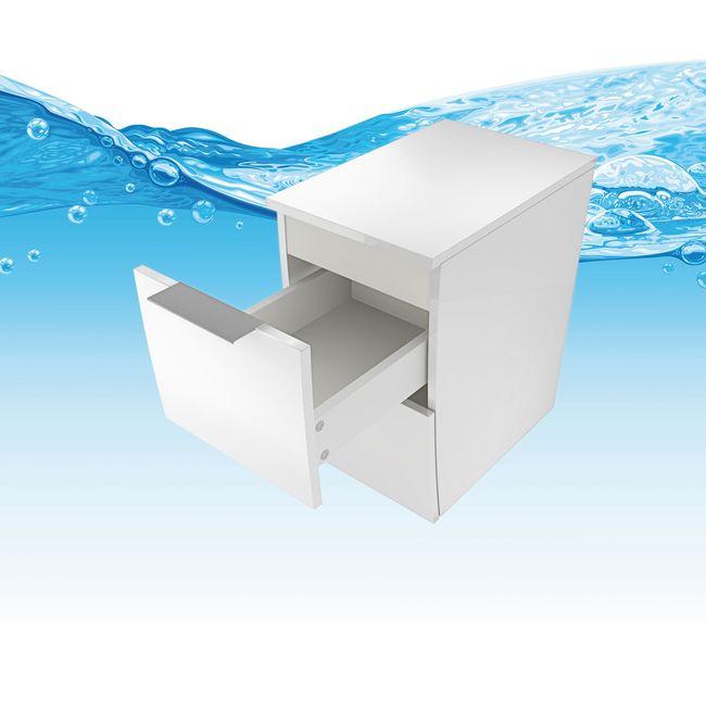 Badmöbel Set Gently 2 V4-L Hochglanz weiß, Badezimmermöbel, Waschtisch 80cm – Bild 14