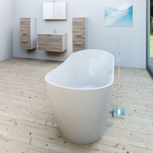 AcquaVapore freistehende Badewanne Wanne Acryl FSW03 170x80cm Armatur wählbar – Bild 3