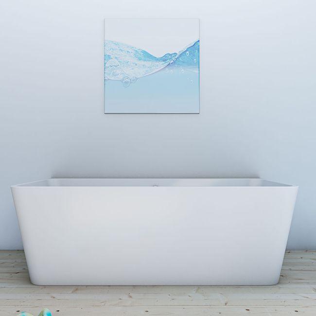 AcquaVapore freistehende Badewanne Wanne Acryl FSW05 170x80cm Armatur wählbar – Bild 6