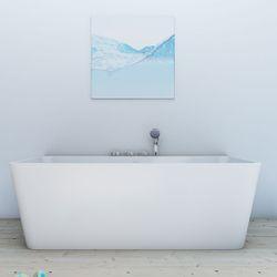 AcquaVapore freistehende Badewanne Wanne Acryl FSW05 170x80cm Armatur wählbar Bild 10