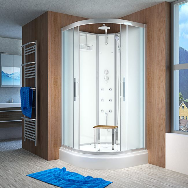 AcquaVapore QUICK16-1010 Dusche Duschtempel Komplette Duschkabine 90x90