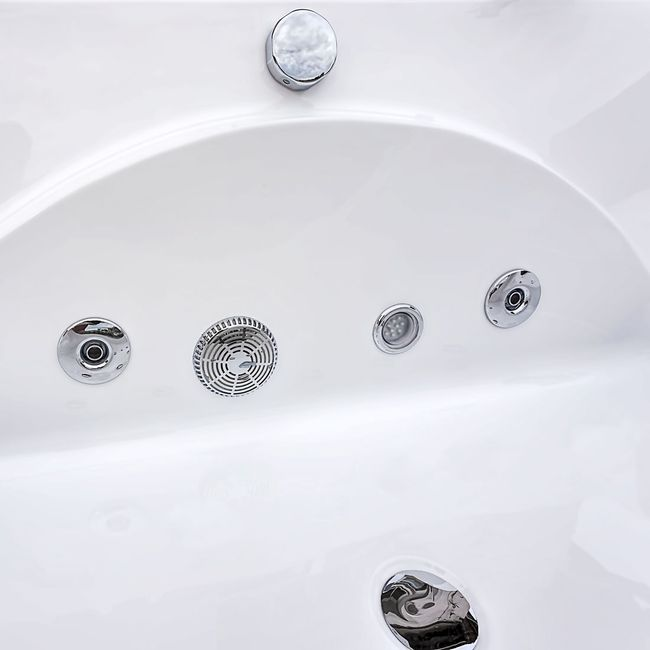Whirlpool Pool Badewanne Eckwanne Wanne A1821-ALL 180x90cm Reinigungsfunktion – Bild 18