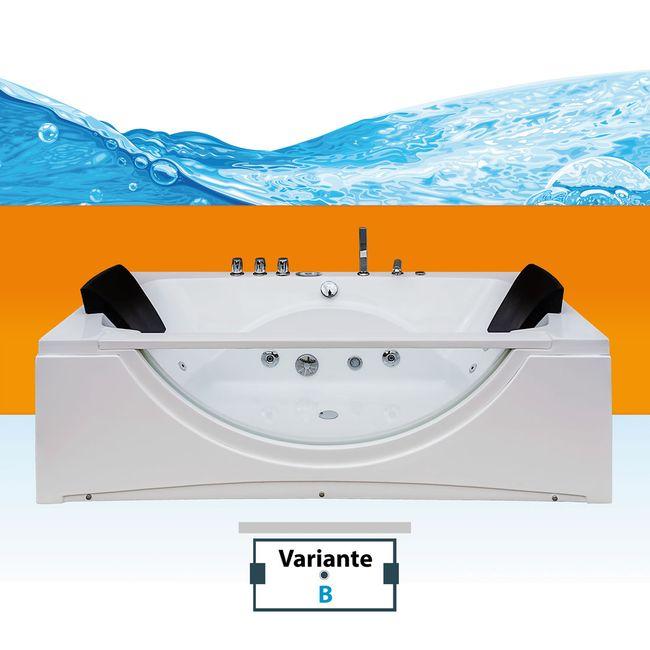 Whirlpool Pool Badewanne Eckwanne Wanne A1821N-B-ALL 180x90cm Reinigungsfunktion – Bild 1
