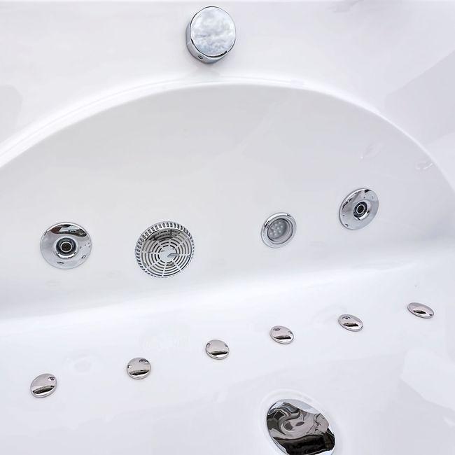 Whirlpool Pool Badewanne Eckwanne Wanne A1821H-C-ALL 180x90cm Reinigungsfunktion – Bild 10