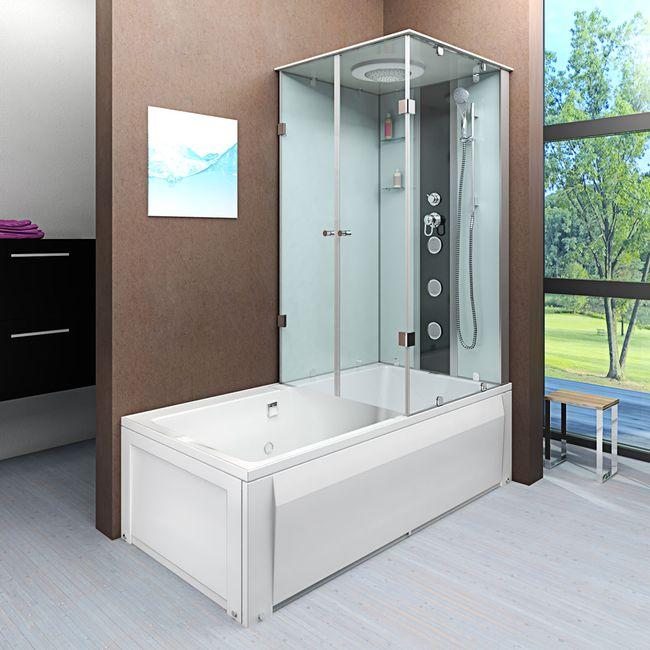 AcquaVapore DTP50-A000L Wanne Duschtempel Badewanne Dusche Duschkabine 180x90 – Bild 1