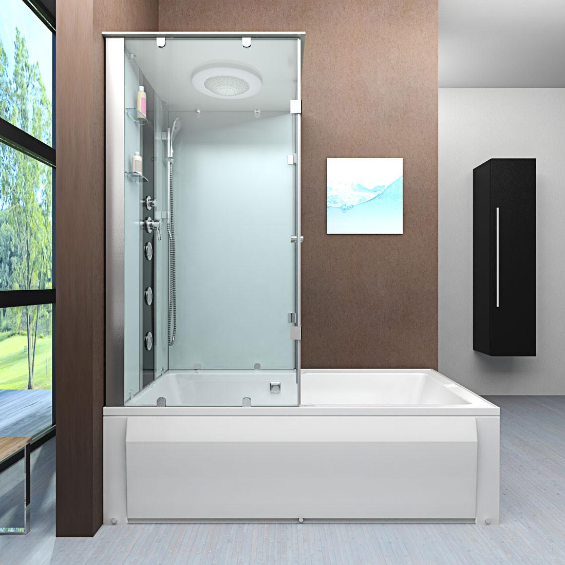 acquavapore dtp50 a000r wanne duschtempel badewanne dusche duschkabine 90x180 ebay. Black Bedroom Furniture Sets. Home Design Ideas