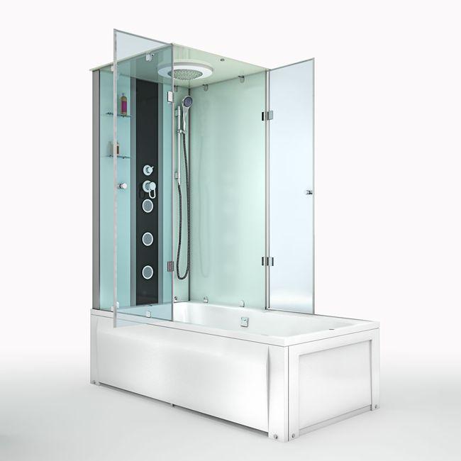 AcquaVapore DTP50-A000R Wanne Duschtempel Badewanne Dusche Duschkabine 90x180 – Bild 7