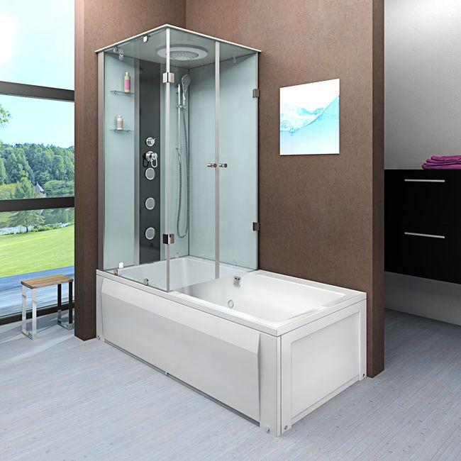 AcquaVapore DTP50-A000R Wanne Duschtempel Badewanne Dusche Duschkabine 90x180 – Bild 1