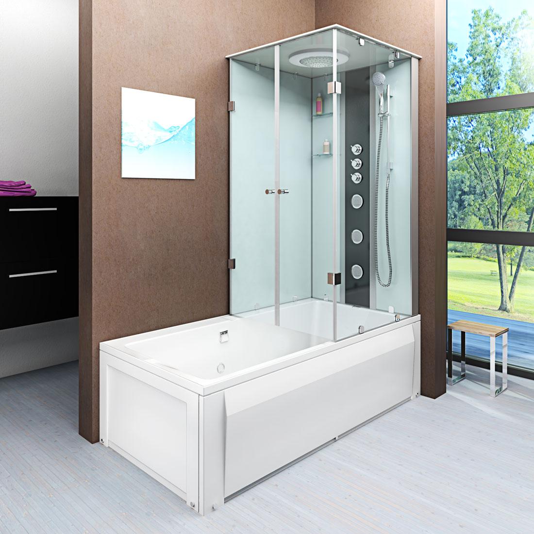 acquavapore dtp50 a004l dusch wannen kombi in 180x90cm trendbad24. Black Bedroom Furniture Sets. Home Design Ideas