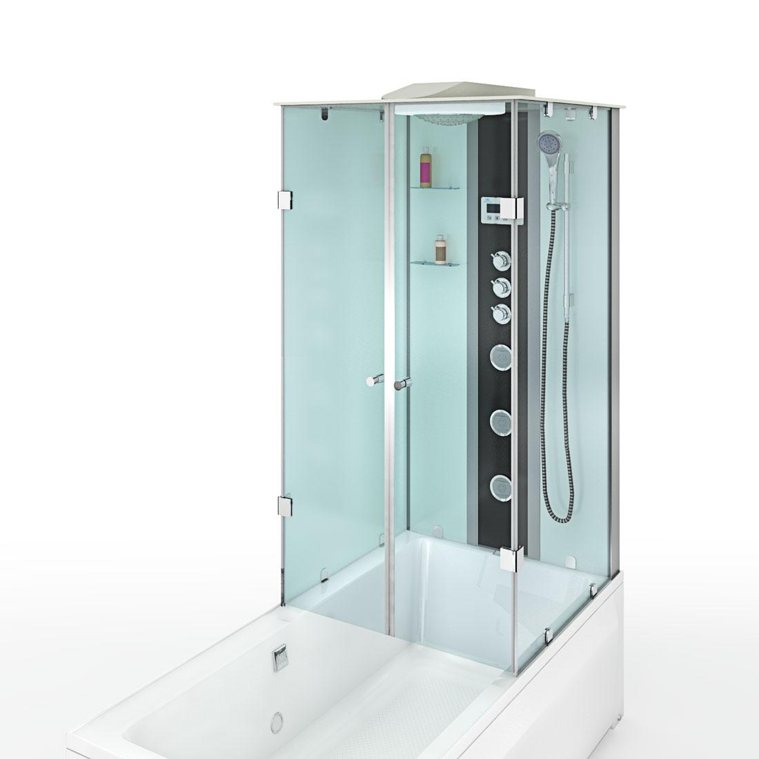acquavapore dtp50 a005l dusch wannen kombi in 180x90cm trendbad24. Black Bedroom Furniture Sets. Home Design Ideas