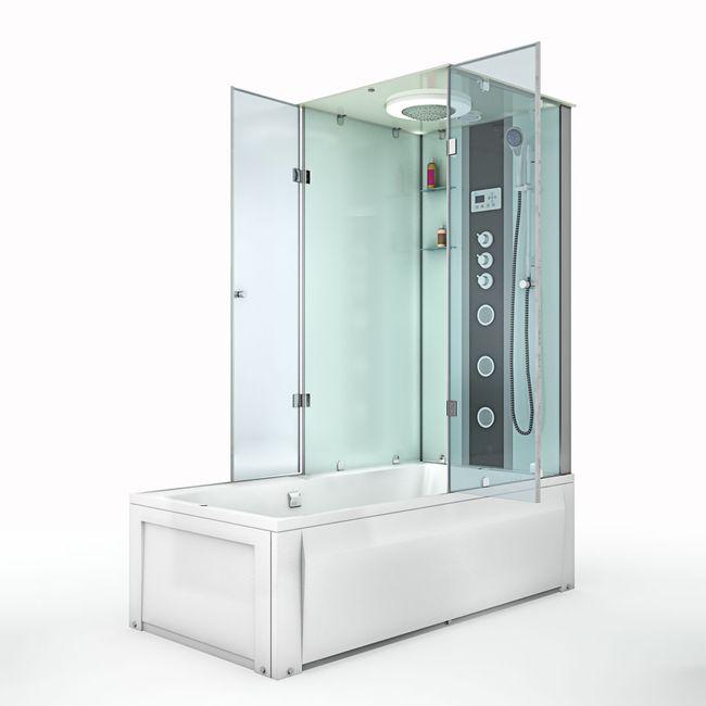 AcquaVapore DTP50-A005L Wanne Duschtempel Badewanne Dusche Duschkabine180x90 – Bild 7