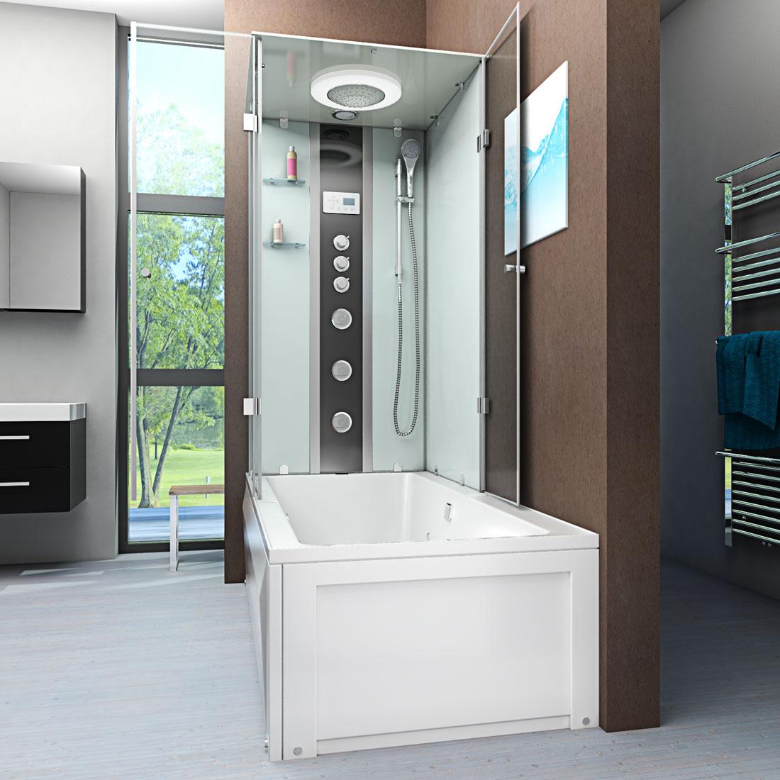 acquavapore dtp50 a005r dusch wannen kombi in 90x180cm trendbad24. Black Bedroom Furniture Sets. Home Design Ideas