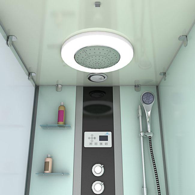 AcquaVapore DTP50-A005R Wanne Duschtempel Badewanne Dusche Duschkabine 90x180 – Bild 9