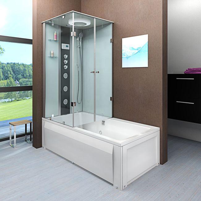 AcquaVapore DTP50-A005R Wanne Duschtempel Badewanne Dusche Duschkabine 90x180 – Bild 1