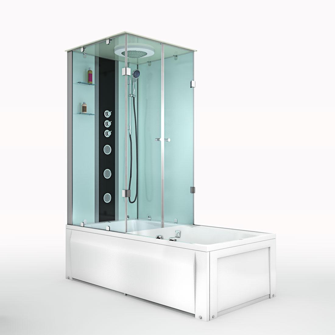 acquavapore dtp50 a006r dusch wannen kombi in 90x180cm trendbad24. Black Bedroom Furniture Sets. Home Design Ideas