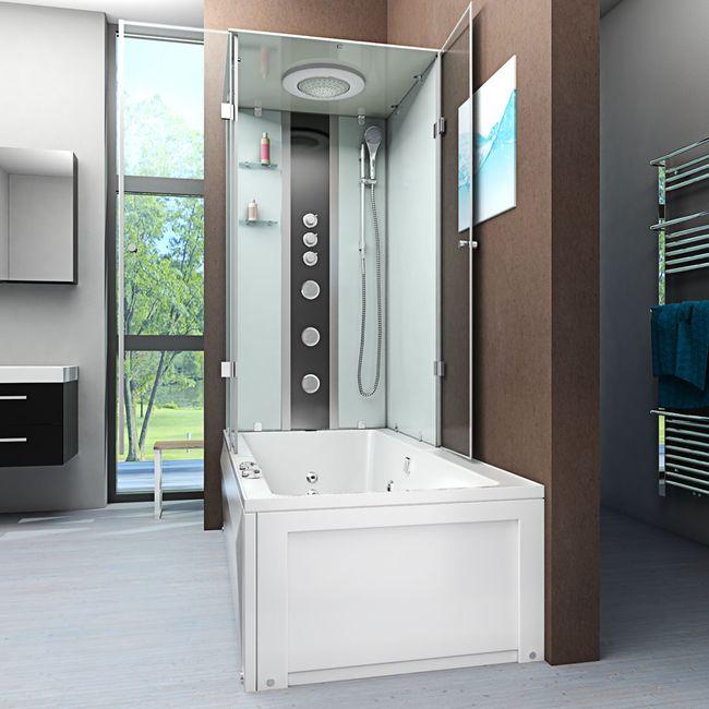AcquaVapore DTP50-A006R Whirlpool Wanne Duschtempel Dusche Duschkabine 90x180 – Bild 2