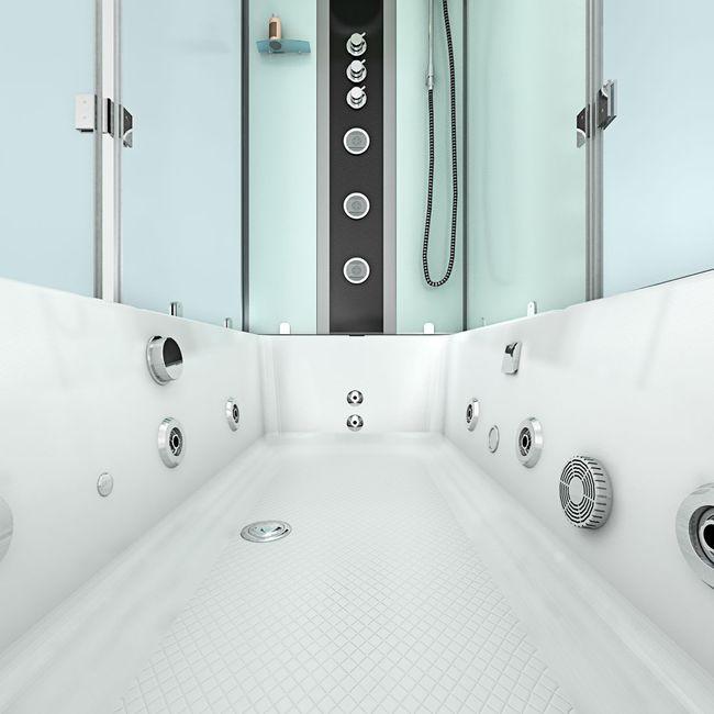 AcquaVapore DTP50-A006R Whirlpool Wanne Duschtempel Dusche Duschkabine 90x180 – Bild 10