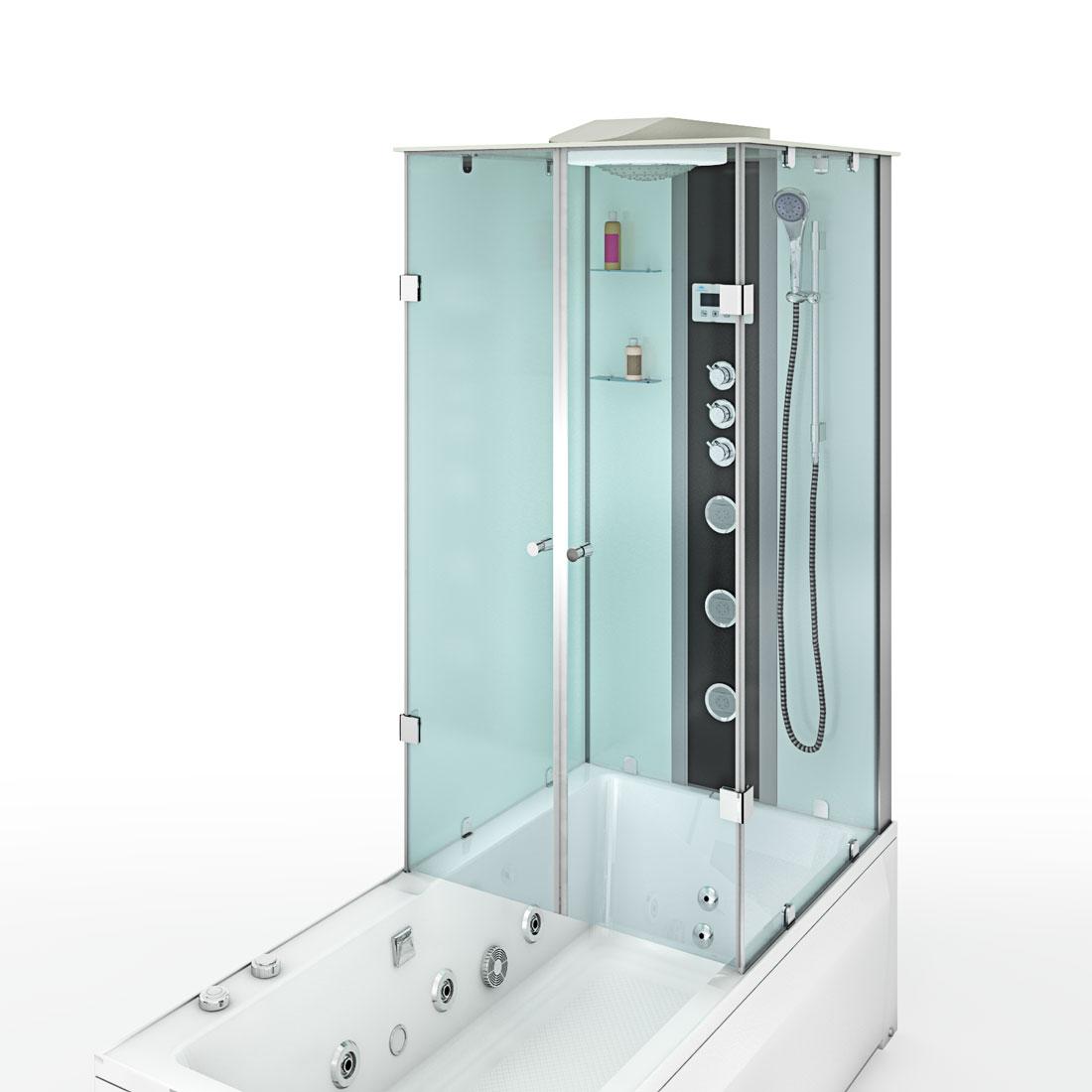 acquavapore dtp50 a007l whirlpool wanne duschtempel dusche duschkabine 180x90 ebay. Black Bedroom Furniture Sets. Home Design Ideas