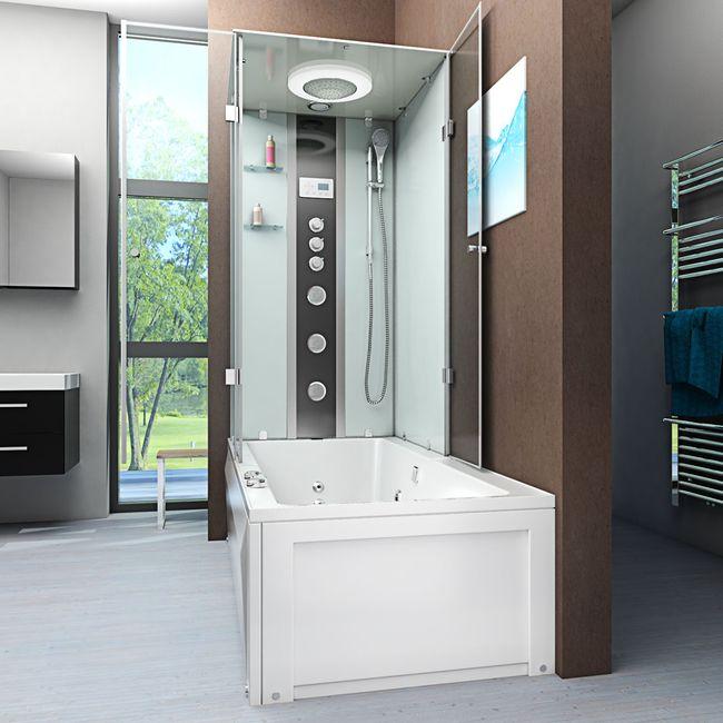 AcquaVapore DTP50-A007R Whirlpool Wanne Duschtempel Dusche Duschkabine 90x180 – Bild 2