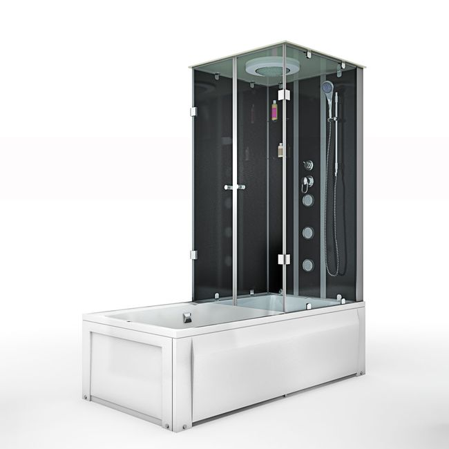 AcquaVapore DTP50-A300L Wanne Duschtempel Badewanne Dusche Duschkabine 180x90 – Bild 4