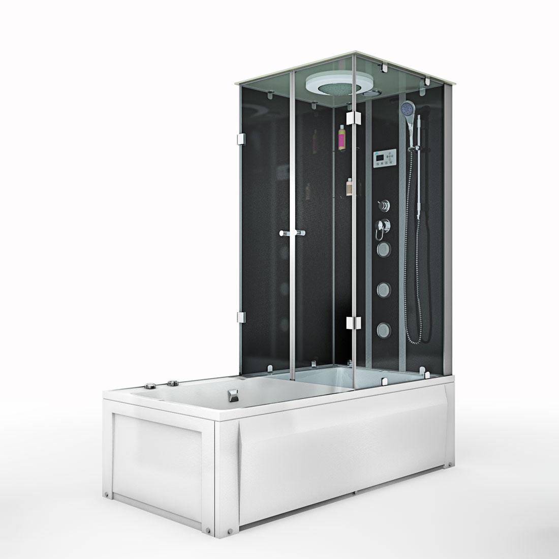 acquavapore dtp50 a303l dusch wannen kombi in 180x90cm. Black Bedroom Furniture Sets. Home Design Ideas