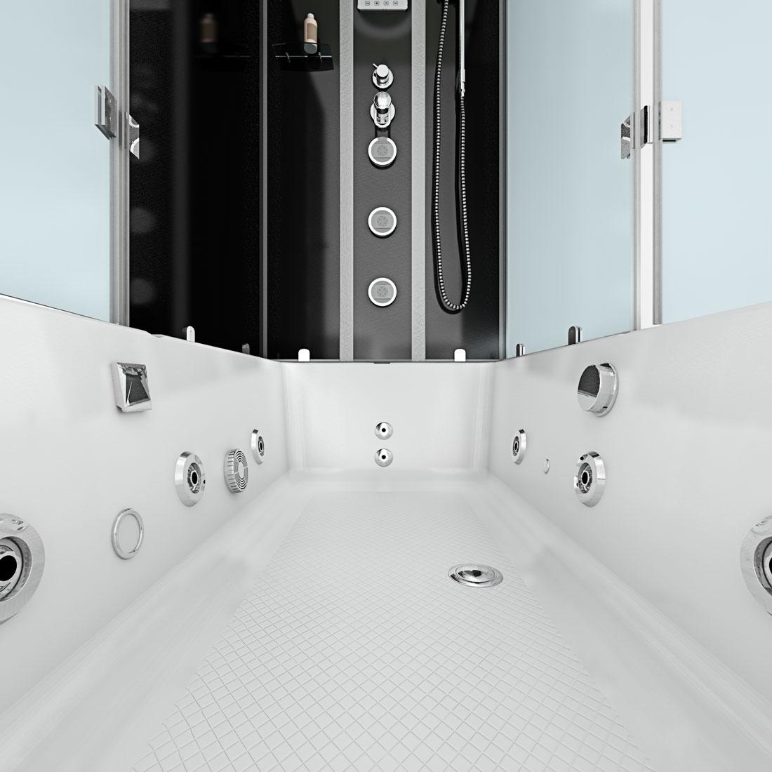 acquavapore dtp50 a303l dusch wannen kombi in 180x90cm trendbad24. Black Bedroom Furniture Sets. Home Design Ideas