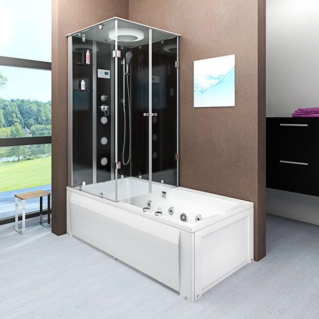 AcquaVapore DTP50-A303R Whirlpool Wanne Duschtempel Dusche Duschkabine 90x180 – Bild 1