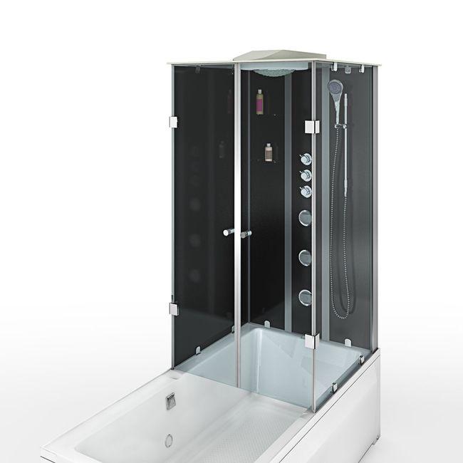 AcquaVapore DTP50-A304L Wanne Duschtempel Badewanne Dusche Duschkabine 180x90 – Bild 11